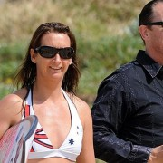 surf-star weds rock-star Layne Beachley